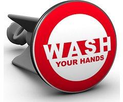Plopp Waschbeckenstöpsel Wash Your Hands
