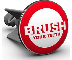 Plopp Waschbeckenstöpsel Brush Your Teeth