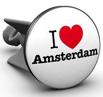 Plopp Waschbeckenstöpsel I love Amsterdam