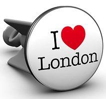 Plopp Waschbeckenstöpsel I love London