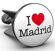 Plopp Waschbeckenstöpsel I love Madrid