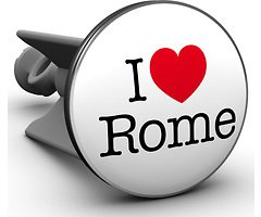 Plopp Waschbeckenstöpsel I love Rome