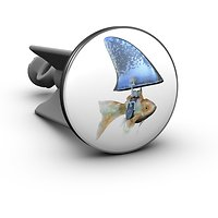 Plopp Waschbeckenstöpsel Goldfisch-Hai