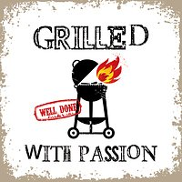 PPD Papierservietten Grilled with Passion weiß 33 x 33cm