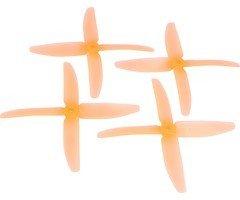 RaceKraft 5040 Quad 4-Blatt Propeller - clear orange (2xCW, 2xCCW)