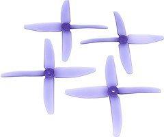 RaceKraft 5040 Quad 4-Blatt Propeller - clear purple (2xCW, 2xCCW)