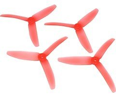 RaceKraft 5040 Tri 3-Blatt Propeller - clear red (2xCW, 2xCCW)
