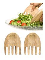 Sagaform Salatbesteck Oak Hands Eiche