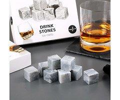 Sagaform Bar Whiskey Kühlsteine 9er Set Granit