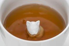 Sagaform Tasse Motiv Hund Porzellan weiß