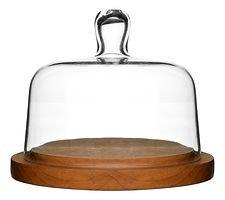 Sagaform Käseglocke mit Tablett Oval Oak rund 18 cm