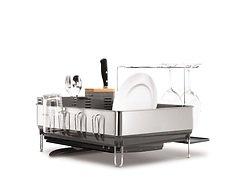 Simplehuman Abtropfgestell mit Edelstahlrahmen 55,2 x 51,3 x 36,2 cm grau