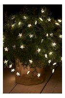 Sirius Lichterkette Trille 125 LED Sterne außen 13 x 1 m grün