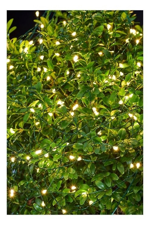 Sirius Lichterkette Knirke 160 LED Metallstrang außen 16 m grün - Pic 1