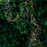 Sirius Lichterkette Knirke 500 LED klar außen 15 x 3,6m Metallstränge silber