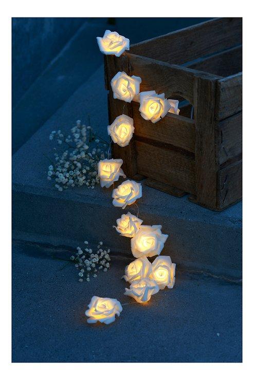 Sirius Lichterkette Rose Magnum 12 LED batteriebetrieben 1,65 m weiß - Pic 1