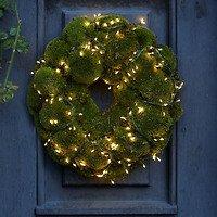 Sirius Lichterkette Knirke Cluster 160 LED warmweiß außen 2m grün