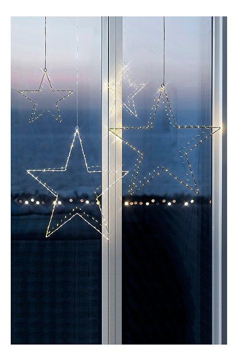 Sirius LED Leuchtstern Liva Star small 30 cm batteriebetrieben Metall weiß - Pic 1