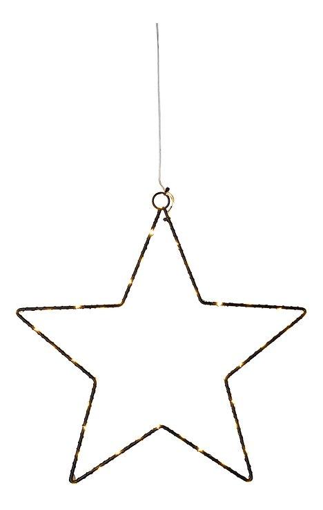 Sirius LED Leuchtstern Liva Star small 30cm batteriebetrieben Metall schwarz - Pic 2