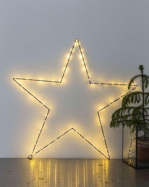 Sirius LED Leuchtstern Liva Star small 30cm batteriebetrieben Metall schwarz - Pic 4