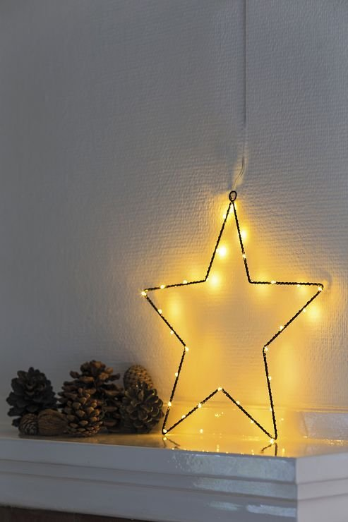 Sirius LED Leuchtstern Liva Star small 30cm batteriebetrieben Metall schwarz - Pic 5