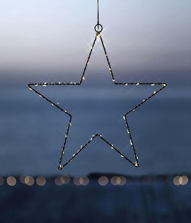 Sirius LED Leuchtstern Liva Star small 30cm batteriebetrieben Metall schwarz - Pic 1
