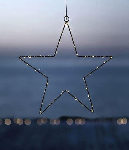 Sirius LED Leuchtstern Liva Star small 30cm batteriebetrieben Metall schwarz