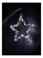 Sirius Leuchtstern Juliet Star small 20 LED Batterie 20cm Innen silber weiß