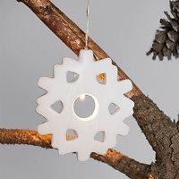 Sirius LED Leuchtanhänger Olina Snowflake 7cm Keramik weiß