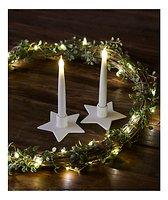 Sirius Kerzenständer inkl. LED Kerze Olina Star 2er Set Keramik weiß