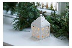 Sirius Deko Laterne Olina Snowflake 10,3 cm 1 LED Keramik weiß