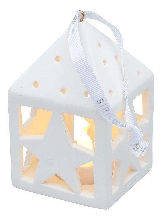 Sirius Deko Laterne Olina Star 10,5 cm 1 LED Keramik weiß - Pic 2