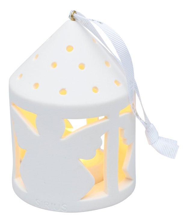 Sirius Deko Laterne Olina Angel 10,3 cm 1 LED Keramik weiß - Pic 2