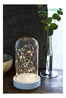Sirius Leuchtdekoration Glashaube Bella 30 LED 25 cm weiß