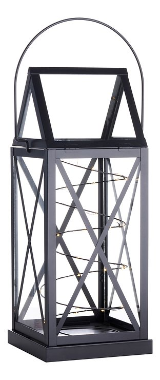 Sirius Laterne Aske 20 LED 13 x 32 cm Batterie außen schwarz - Pic 1