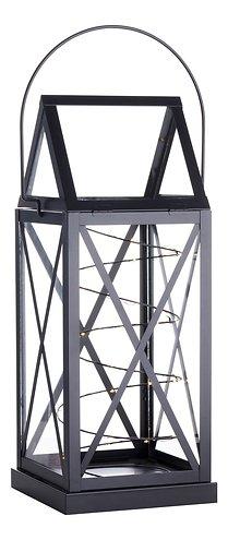 Sirius Laterne Aske 20 LED 13 x 32 cm Batterie außen schwarz
