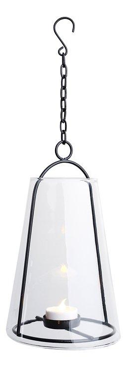 Sirius Glaslaterne Albert mit LED Teelicht 12,5 x 23 cm Metall schwarz - Pic 3