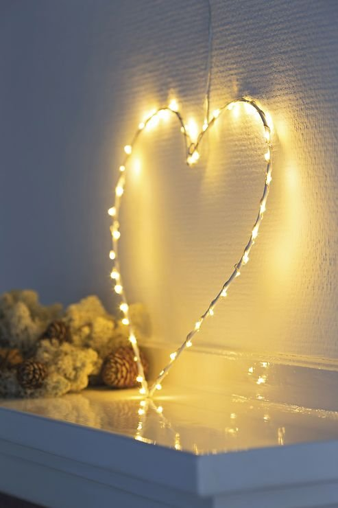 Sirius LED Leuchtherz Liva Heart small 30cm batteriebetrieben Metall weiß - Pic 3