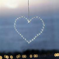 Sirius LED Leuchtherz Liva Heart small 30cm batteriebetrieben Metall weiß