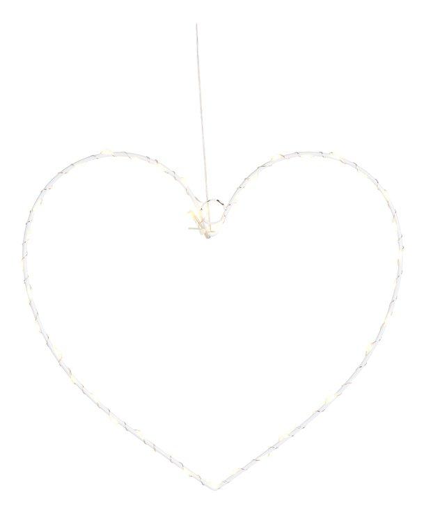 Sirius LED Leuchtherz Liva Heart small 30cm batteriebetrieben Metall weiß - Pic 2