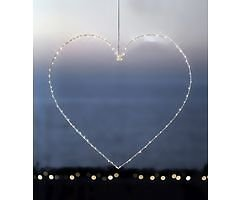 Sirius LED Leuchtherz Liva Heart big 70cm Metall weiß