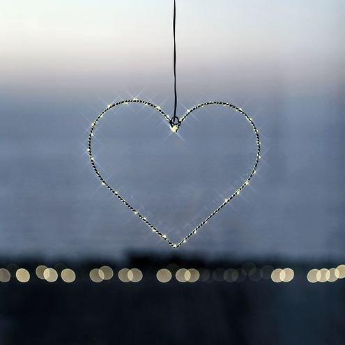 Sirius LED Leuchtherz Liva Heart small 30cm batteriebetrieben Metall schwarz