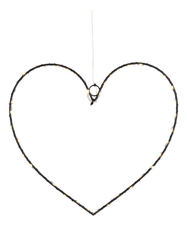 Sirius LED Leuchtherz Liva Heart small 30cm batteriebetrieben Metall schwarz - Pic 2