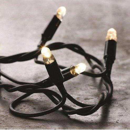 Sirius Lichterketten Erweiterung Tech-Line 200 LED warmweiß 230V 20m schwarz