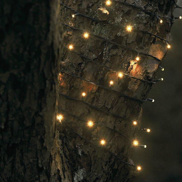 Sirius Lichterkette David 40 LED warmweiß außen 6m grün - Pic 1