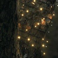 Sirius Lichterkette David 120 LED warmweiß außen 18m grün