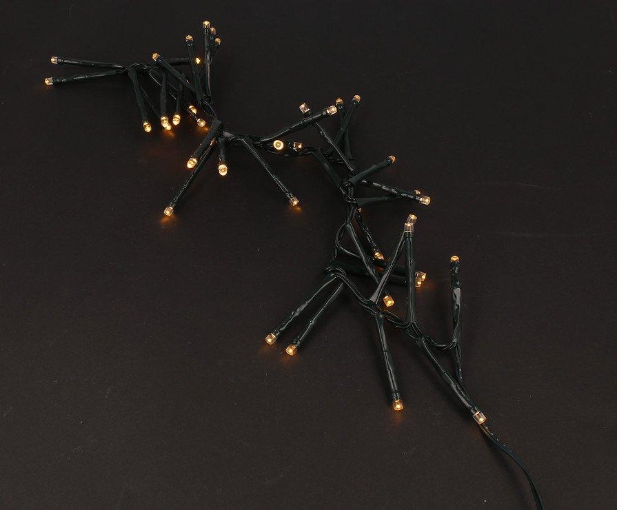 Sirius Lichterkette David Cluster 40 LED warmweiß außen 50cm grün - Pic 6