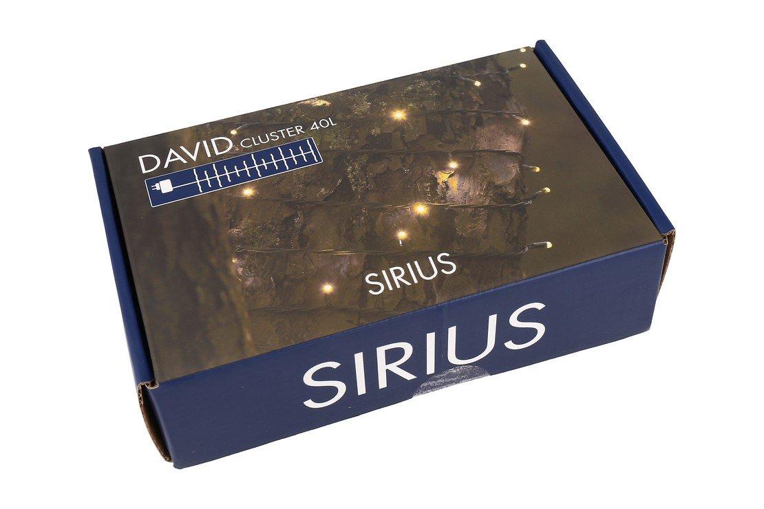 Sirius Lichterkette David Cluster 40 LED warmweiß außen 50cm grün - Pic 9