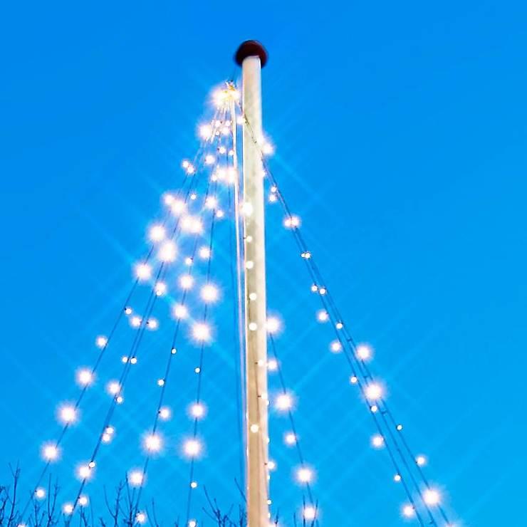Sirius Lichterkette David Fahnenmast 360 LED warmweiß 10 x 7m grün - Pic 3