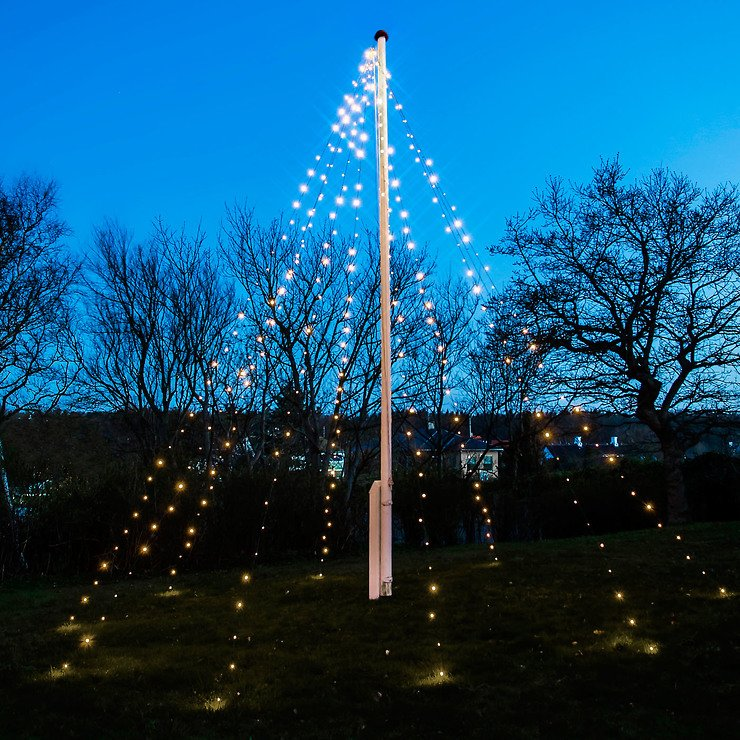 Sirius Lichterkette David Fahnenmast 360 LED warmweiß 10 x 7m grün - Pic 1